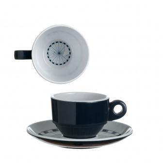 Columbus Koffiekop en schotel (Espresso) 6 stuks