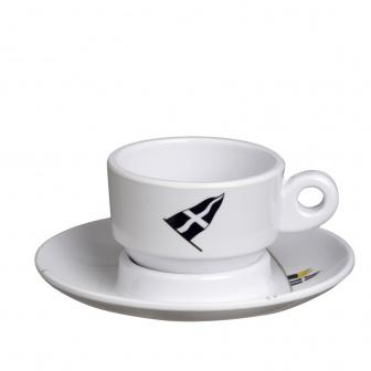 Scheepsservies Regata Espresso kop- en schotel (6 st)