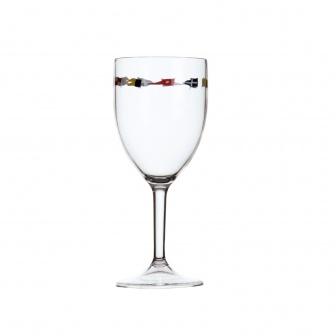 """Scheepservies Regata """"onbreekbaar"""" Wijnglas op steel"""