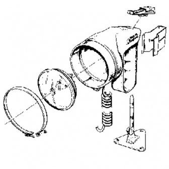 Dekbeugel voor handschijnwerper, type Bremen