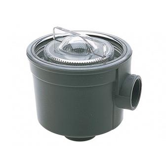 Wierpot met RVS filter, Aansluiting 38mm ( inwendige draad )