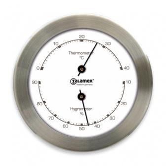 Talamex Thermo-Hygrometer 100-RVS temperatuur luchtvochtigheid