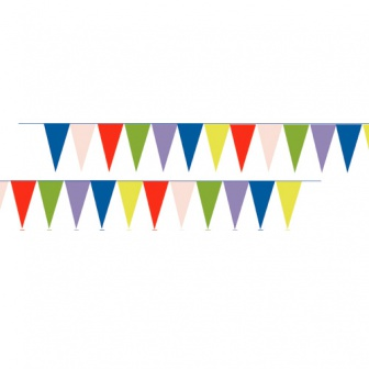 Pavoiseer vlaggetjes, lengte lijn: 12 meter