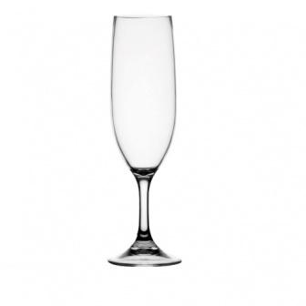 """Scheepsservies Clear, 6 """"onbreekbare"""" champangeglazen met antislip voet"""
