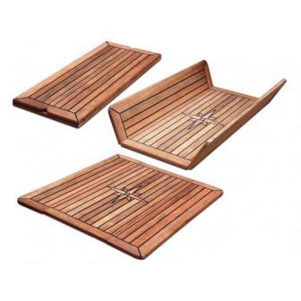 Los, dubbelscharnierend Teak tafelblad 68x80 cm