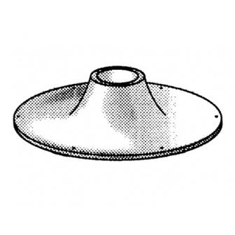 Aluminium tafelvoet, opbouw 25 cm, buis diam. 60mm