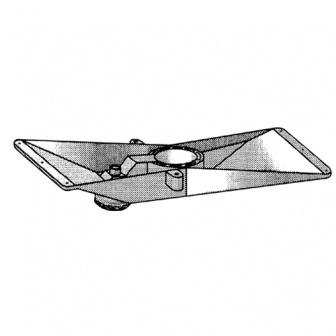 Tafelbladonderstel 50cm buis diam. 60mm