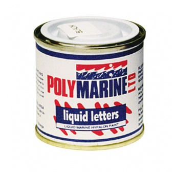 Flexibele letterverf voor Hypalon boten