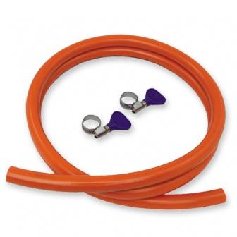 Gasslang met slangklemmen, 100 - 150cm, gasleiding klemmen