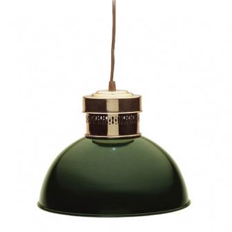 Oud Hollands groen gespoten docklamp (scheepslamp)