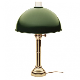Messing tafellamp / kaartleeslamp, 45 cm hoog