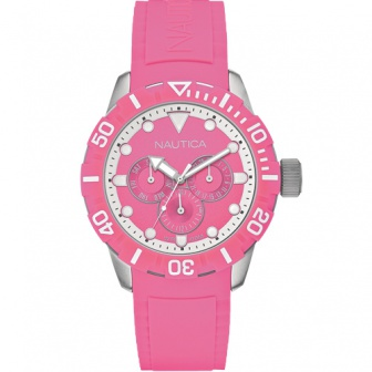 Nautica Yacht Club watersport horloge A13641G Roze