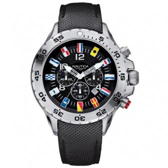 Nautica NST Chrono Flag A24520G watersport horloge met seinvlaggen