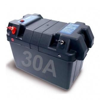 Accubak 30 Ampere voor elektro buitenboordmotor
