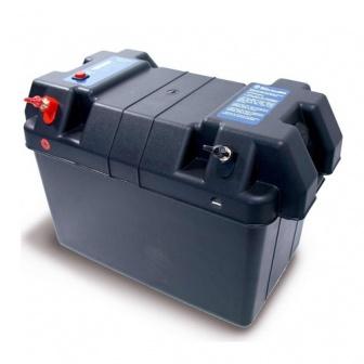 Accubak met spanningsindicator voor o.a elektrische buitenboordmotoren