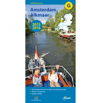 ANWB waterkaart G Amsterdam-Alkmaar 2015-2016