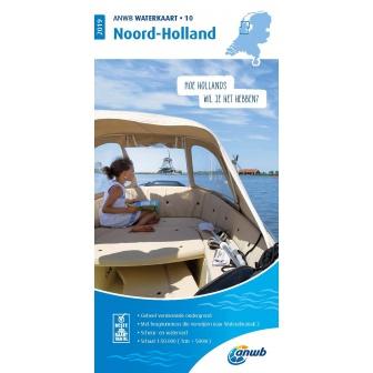 ANWB waterkaart 10 Noord-Holland Editie 2019