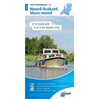 ANWB waterkaart 16 Noord-Brabant / Maas-Noord