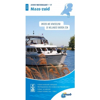 ANWB waterkaart 17 Maas-Zuid Editie 2019
