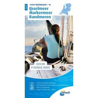 ANWB waterkaart 18 IJsselmeer-Markermeer / Randmeren Editie 2019