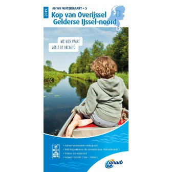 ANWB waterkaart 5 Kop Overijssel / Gelderse IJssel-Noord Editie 2019