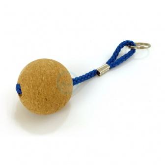 Sleutehanger met bal van Kurk ( rond 50mm)