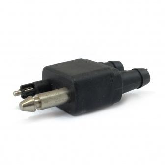 Brandstof adapter Stekker dubbel male inline OMC