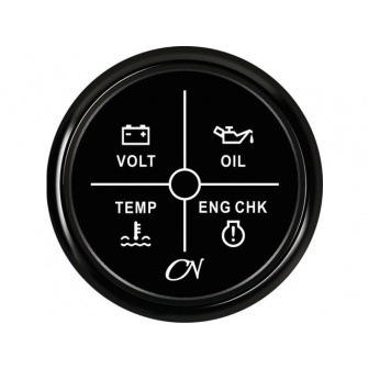 CN alarmpaneel LED zwart