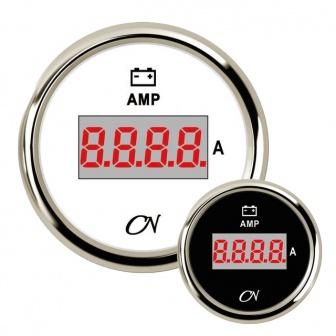 CN amperemeter digitaal met Chromen ring Wit of Zwart incl. shunt