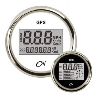 CN GPS snelheidsmeter met kompas digitaal met Chromen ring Wit of Zwart