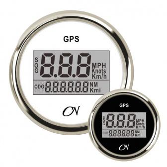 CN GPS snelheidsmeter digitaal met Chromen ring Wit of Zwart