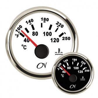 CN watertemperatuur meter met Chromen ring Wit of Zwart