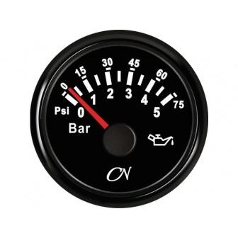 CN oliedrukmeter 0-5 bar Zwart
