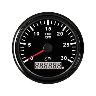 CN toerenteller met bedrijfsurenteller 3000 rpm Zwart