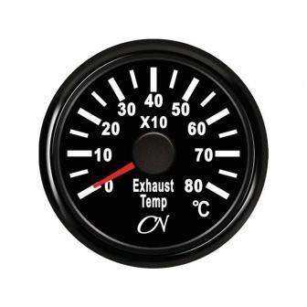 CN uitlaattemperatuur meter Zwart incl. gever