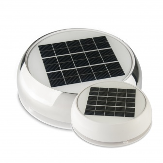 Solar Dekventilator Marinco Dag en nacht Plus in RVS of wit