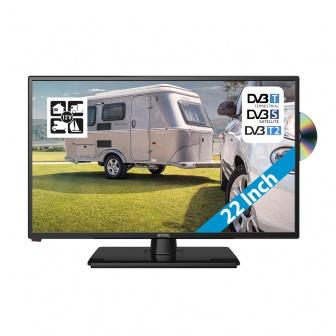 Enox 12 volt LED TV 22 Inch met DVB-T/T2 en DVB-S/S2 met FastScan