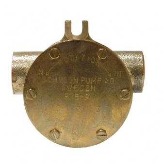 F7B Johnson Koelwaterpomp bootmotor, flensmontage
