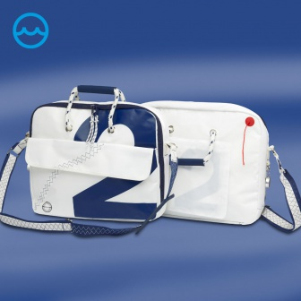 Sea Officer Laptoptas van zeilstof, Kleur: Navy, Nautic Gear watersportwinkel