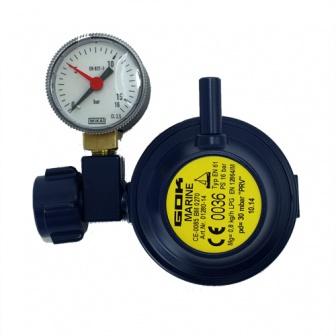 Marine gasdrukregelaar haaks 30mbar met manometer