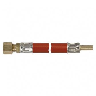 Gasleiding, 8mm knel x 8mm glad gasslang