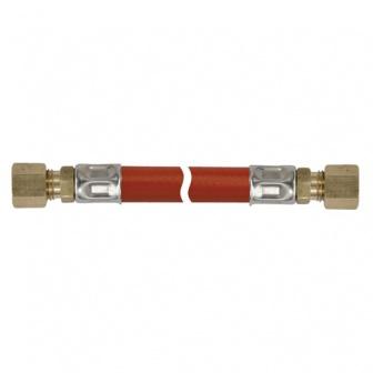 Gasleiding, 8mm knel x 8mm knel, gasslang