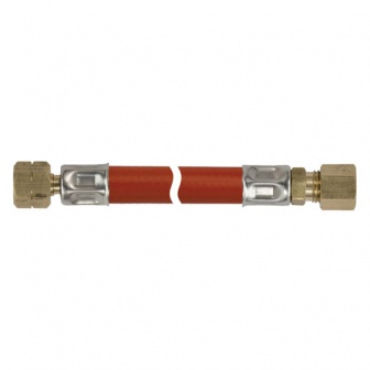 """Gasleiding, 1/4"""" l bi x 8mm knel gasslang"""