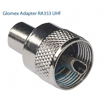 Glomex RA 353 UHF PL259 Male krimpconnerctor voor RG8X kabel