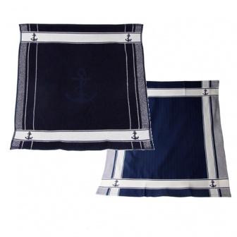 Nautiche handdoek- en theedoekset met anker