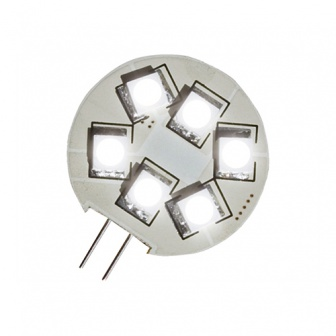 Losse LED G4 6x SMD met zij-insteek 8-30 volt 1,5 Watt (8 watt halogeen)