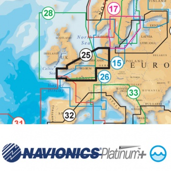 Navionics Platinum Plus 25P+ Nederland, Hamburg en UK South