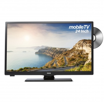 Nikkei Mobile TV NLD24MBK 12 Volt 24 Inch SMART LED TV met DVD, DVB-S2, FastScan en DVB-T2