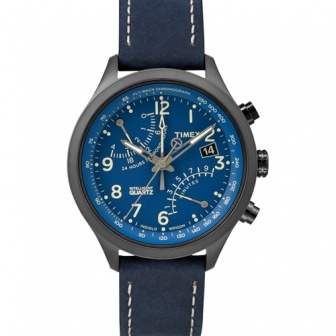 Watersporthorloge Timex IQ Fly-back Chronograph Blauw