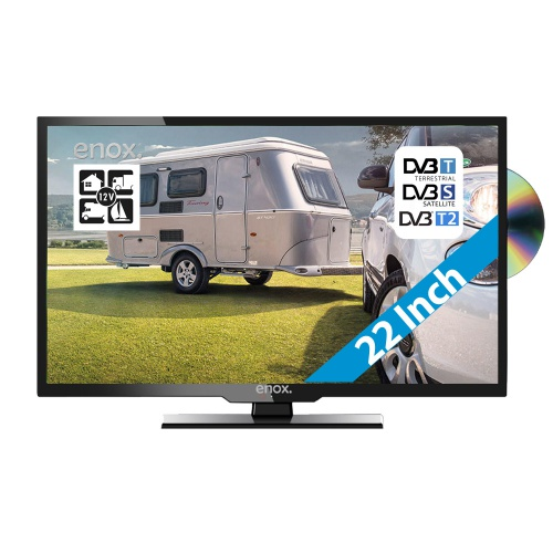 enox 12 30 volt full hd led tv ll 0122st2 22 inch met dvd. Black Bedroom Furniture Sets. Home Design Ideas
